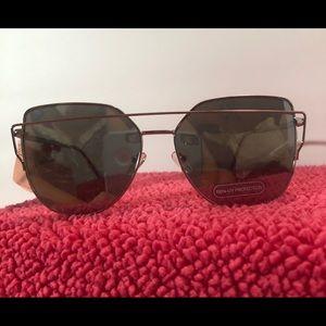 Flirt Overlay Framed Cat Eye Sunglasses